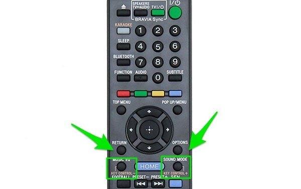 NútKEY CONTROL + hoặc KEY CONTROL - trên dàn âm thanh sẽ giúp bạn điều chỉnh tông cho phù hợp