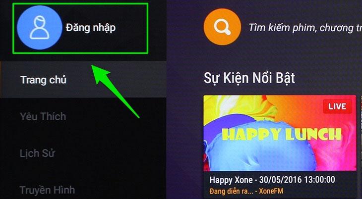 Trên Smart tivi, bạn ở ứng dụng FPT Play, chọn Đăng nhập. Tivi sẽ hiện bảng thông thông báo chi tiết về cách đăng nhập và bạn chỉ cần thực hiện theo là được.
