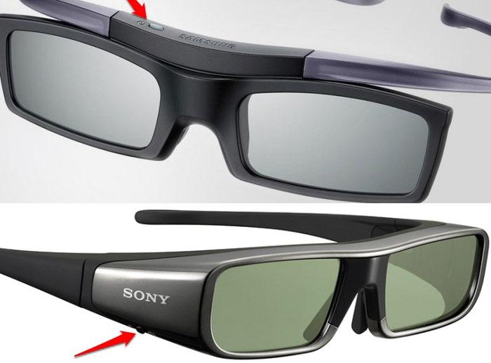 Mỗi loại kính sẽ có vị trí đặt nút nguồn khác nhau
