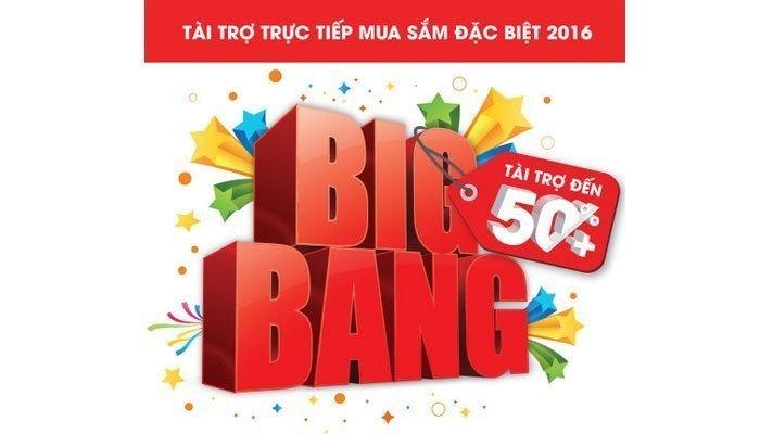 Big Bang là chương trình tài trợ trực tiếp cho người tiêu dùng tại Nguyễn Kim, giúp bạn mua sắm được nhiều sản phẩm điện máy với mức giá hấp dẫn