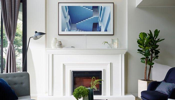 Tivi khung tranh của Samsung có tên The Frame tôn lên nội thất ngôi nhà bạn