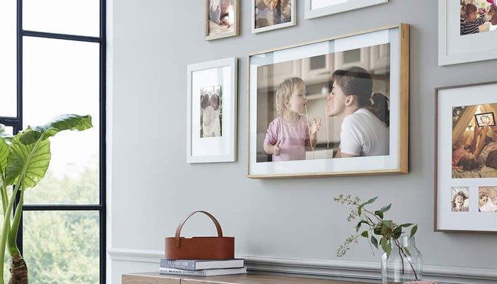 Hình cá nhân được tích hợp lên tivi khung tranh The Frame