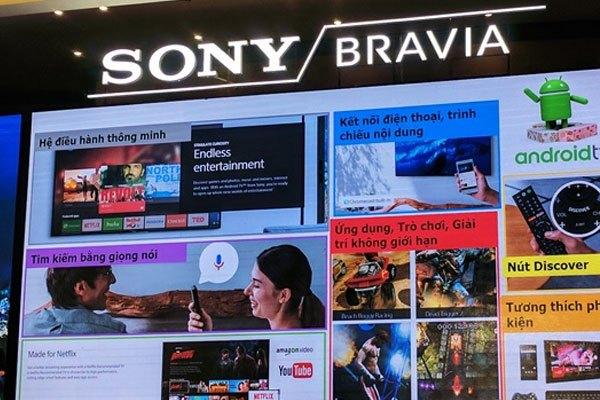Nhiều tính năng thông mình được trang bị trên tivi Sony