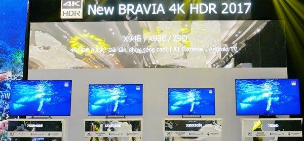 Các dòng sản phẩm tivi BRAVIA TV 2017 sẽ nhanh chóng xuất hiện tại thị trường Việt Nam