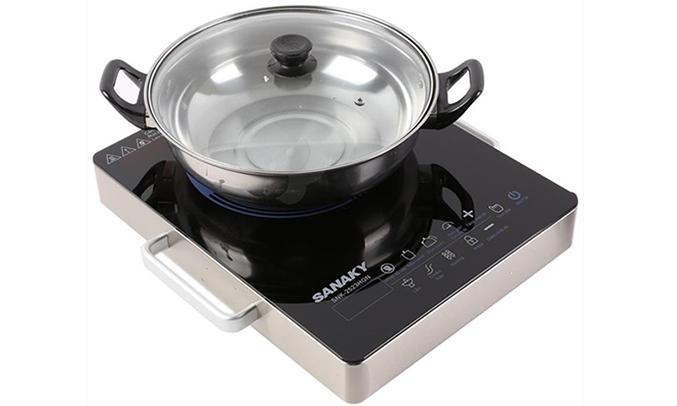 Bếp hồng ngoại Sanaky SNK 2523HGN khóa an toàn