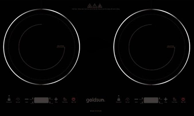 Bếp điện từ đôi Goldsun IH-GYL06 mặt kính cường lực