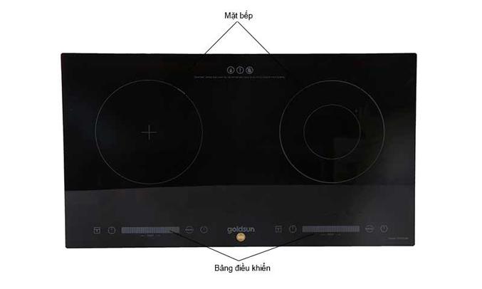 Bếp điện đôi kết hợp Goldsun CH-GYL26 công suất hoạt động lớn, tiết kiệm thời gian