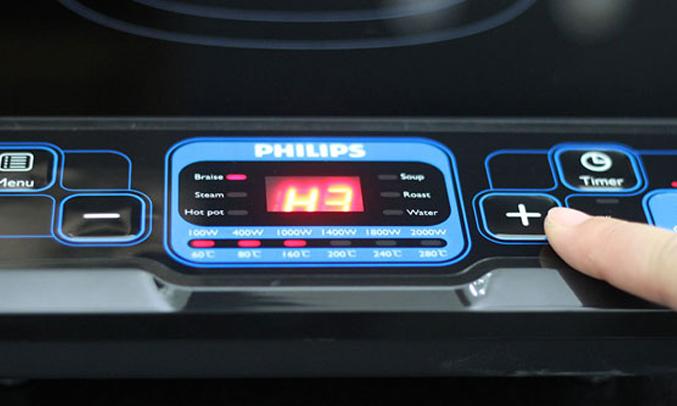 Bếp điện từ Philips HD4921 dễ sử dụng