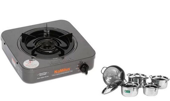 Bếp gas đơn Namilux NH-210AFM dễ vệ sinh