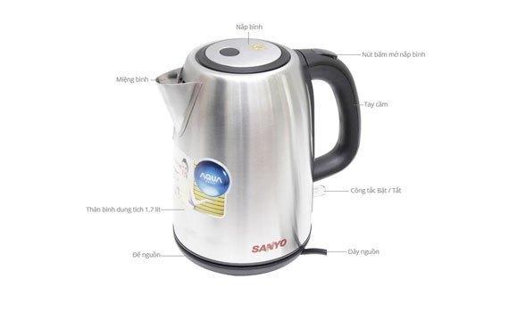 Đun nước nhanh với bình đun siêu tốc Aqua AJK-F765 2200W