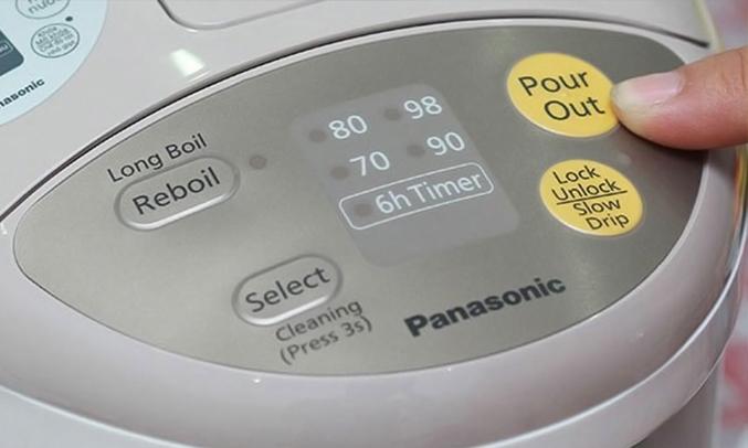 Bình thủy điện Panasonic NC-EG2200CSY điều khiển điện tử