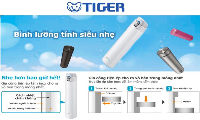 Bình lưỡng tính Tiger MMJ-A060 (WW) công nghệ cách nhiệt chân không