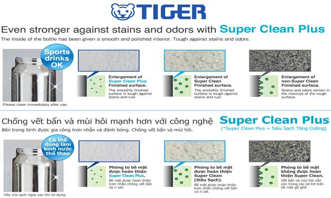 Bình lưỡng tính Tiger MMW-A048 (PR) công nghệ khử mùi hiệu quả