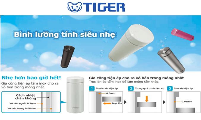 Bình lưỡng tính Tiger MMW-A048 (PR) công nghệ cách nhiệt chân không