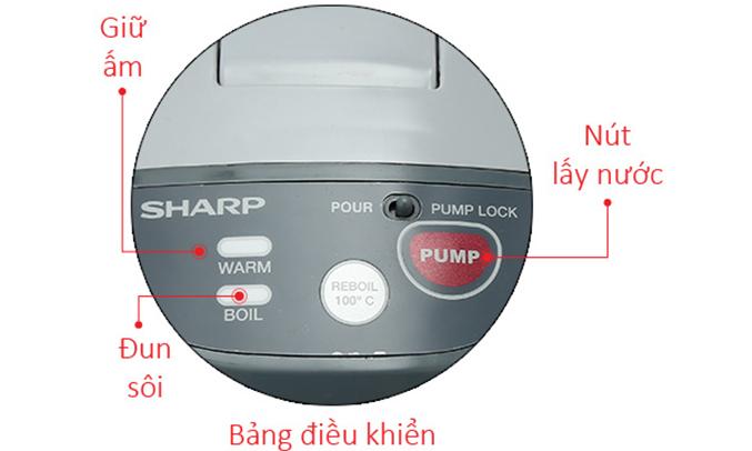 Bình thủy điện Sharp KP-Y40PV dễ sử dụng