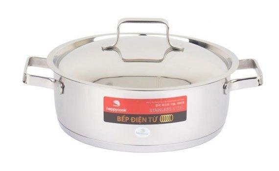 Bộ nồi inox Happy Cook Milan HC-06ML có thiết kế sang trọng, chất liệu bền bỉ giá tốt tại Nguyễn Kim