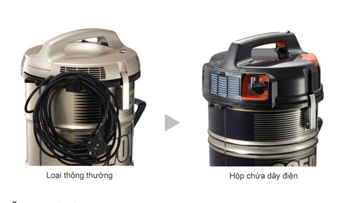 Máy hút bụi Hitachi CV-985DC(24CV-GB) gọn gàng