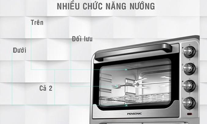 Lò nướng Pensonic PEO-3803G nhiều chức năng nướng