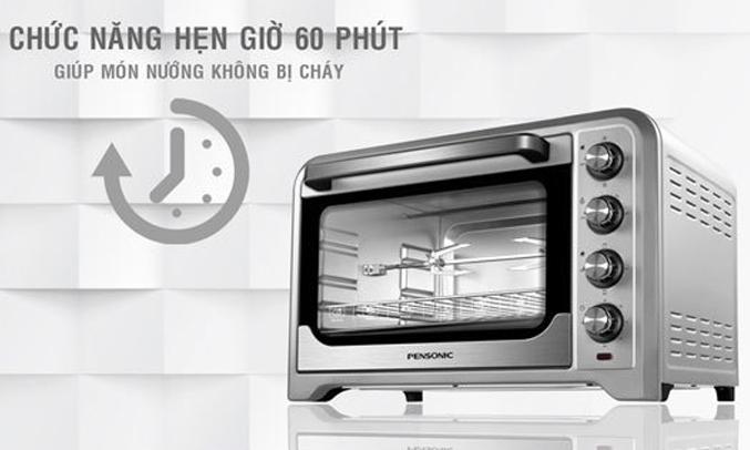 Lò nướng Pensonic PEO-3803G hẹn giờ 60 phút