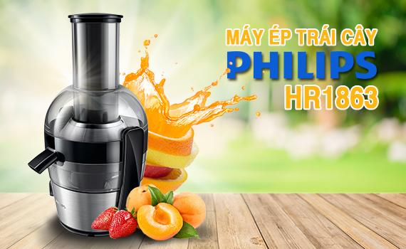 Máy ép trái cây Philips HR1863 ép nhiều nước