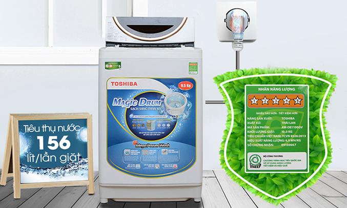 Máy giặt Toshiba AW-ME1050GV (WD) tiết kiệm điện nước hiệu quả