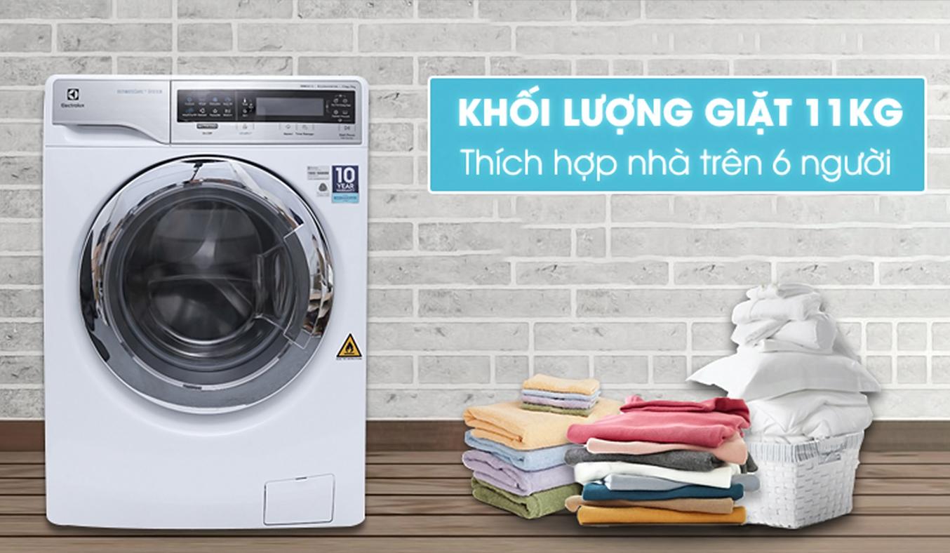 Máy giặt sấy Electrolux Inverter EWW14113 khối lượng lớn