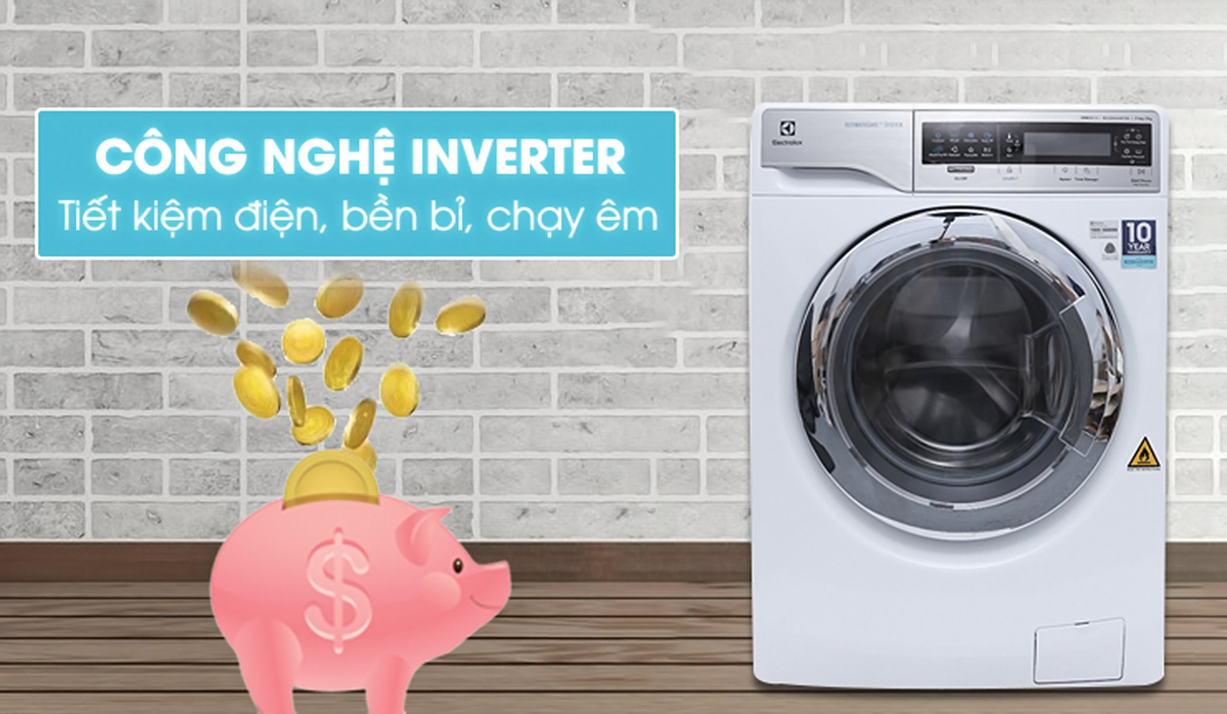Máy giặt sấy Electrolux Inverter EWW14113 tiết kiệm