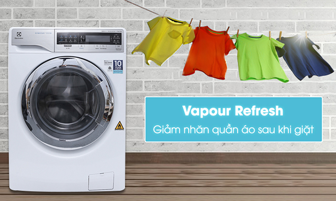 Máy giặt sấy Electrolux Inverter EWW14113 giảm nhanh quần áo