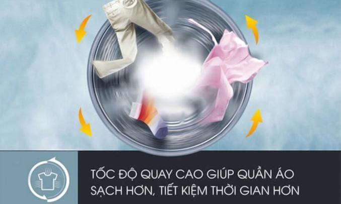 máy giặt Electrolux 9kg EWF12933 hiệu quả