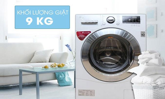 Máy giặt LG 9KG FC1409S2W khối lượng giặt lớn