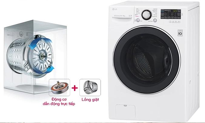 Máy giặt LG F2514DTGW tiết kiệm chi phí