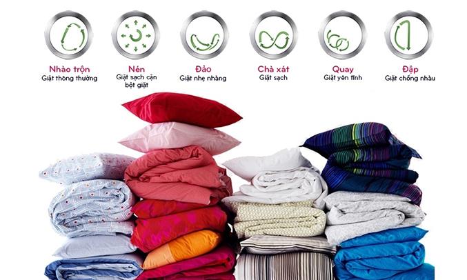 Máy giặt LG F2514DTGW 6 chương trình giặt