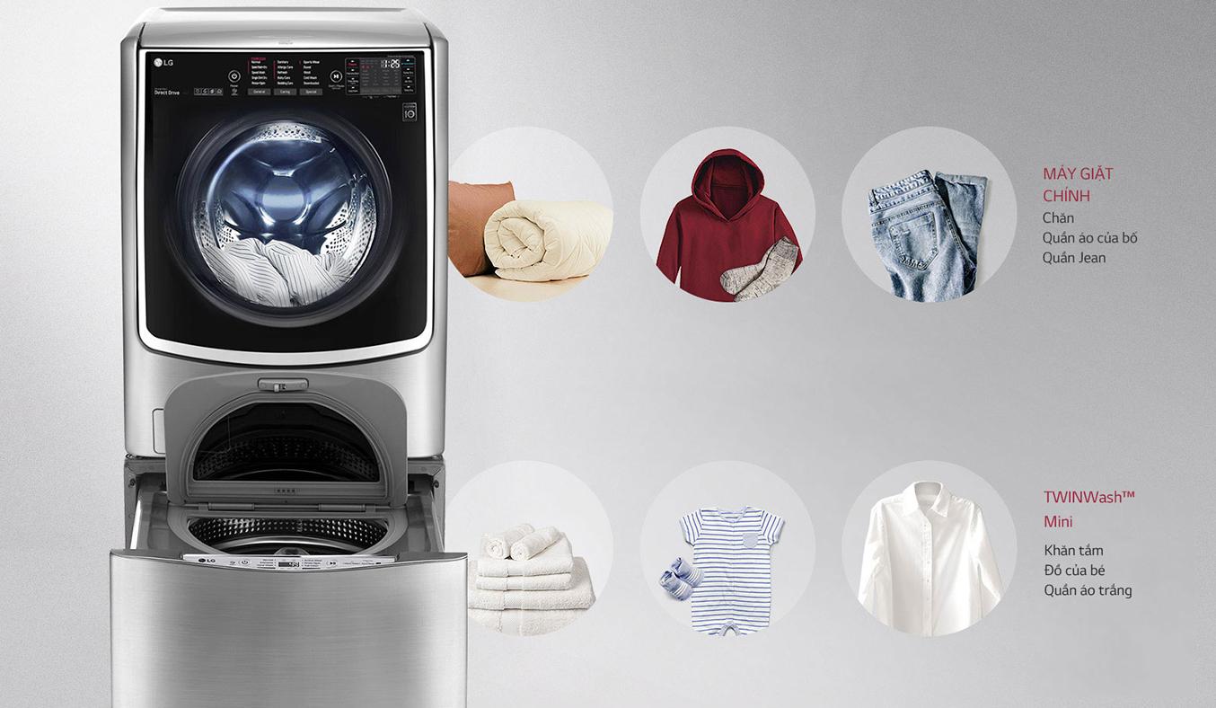 Máy giặt thông minh LG 21KG F2721HTTV tiết kiệm thời gian