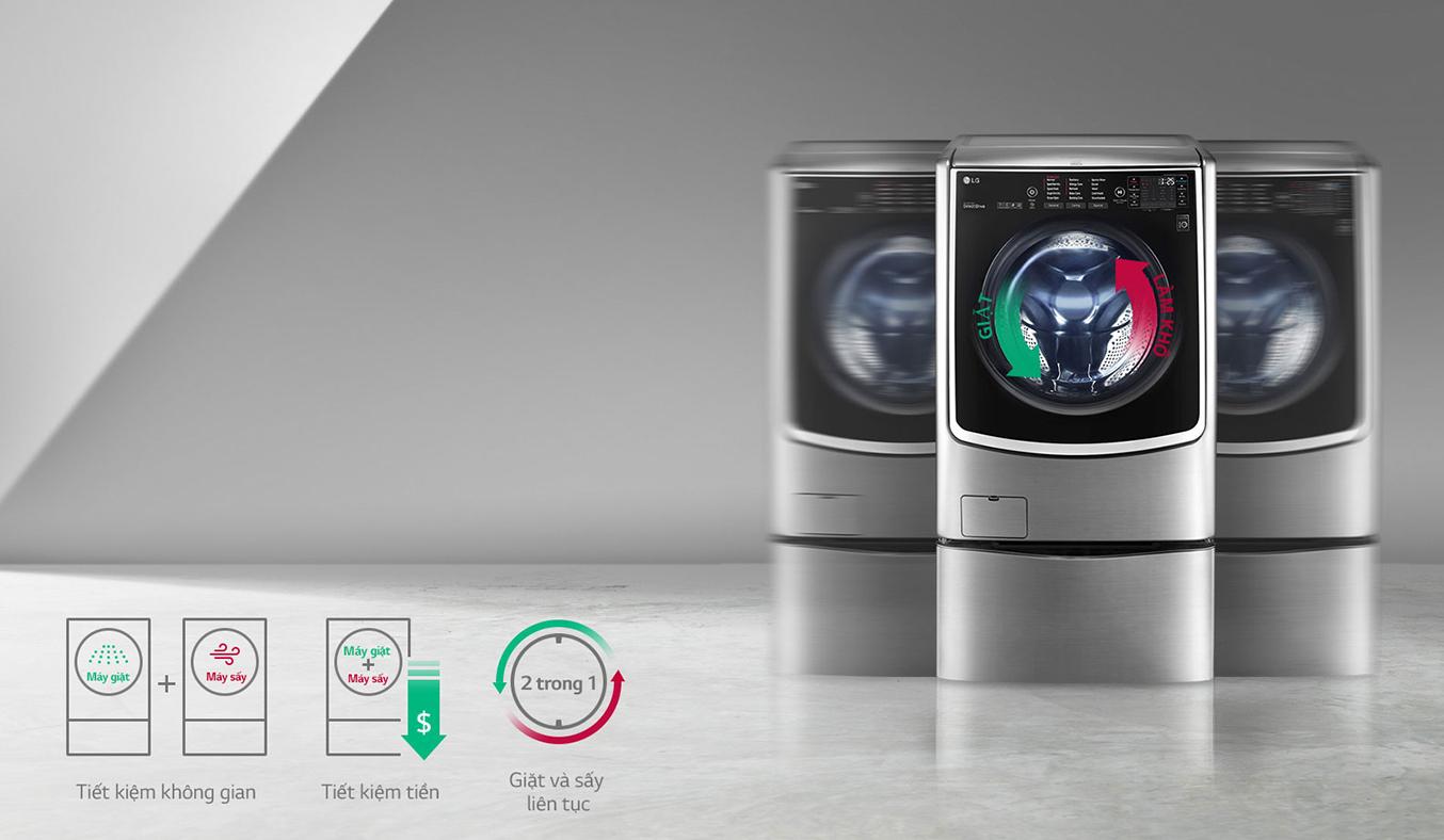 Máy giặt thông minh LG 21KG F2721HTTV giặt sấy 2 trong 1