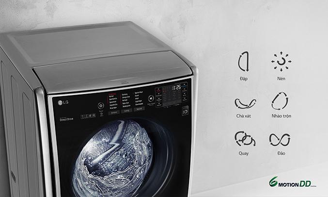 Máy giặt thông minh LG 21KG F2721HTTV 6 chuyển động giặt