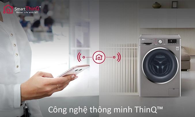 Máy giặt LG Inverter 9 kg FC1409S2E công nghệ thông minh ThinQ