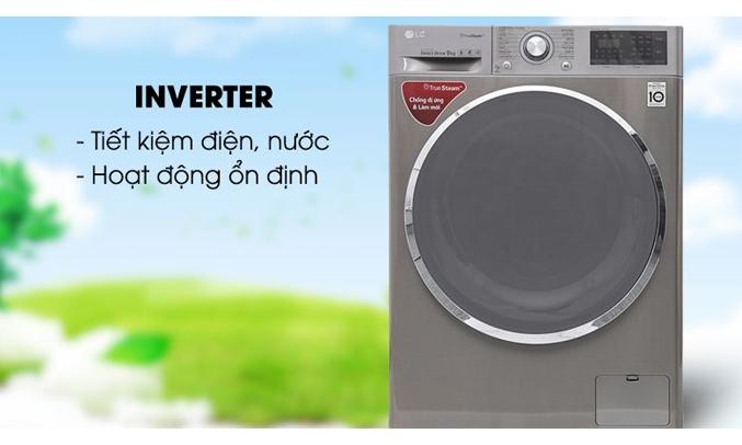 Máy giặt LG Inverter 9 kg FC1409S2E sử dụng công nghệ Inverter