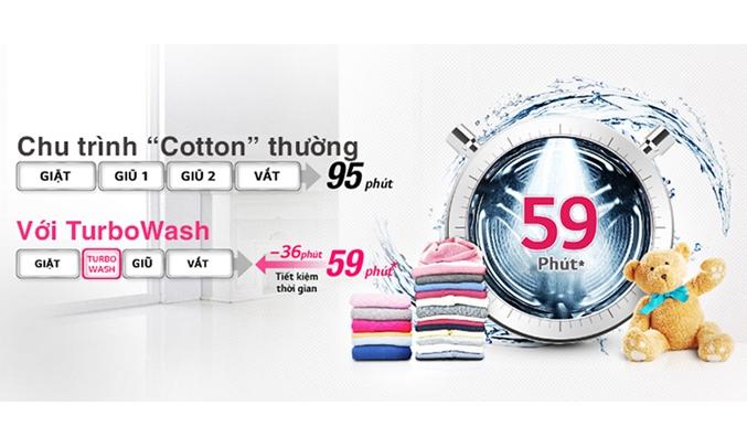Máy giặt LG Inverter 9 kg FC1409S2E công nghệ Turbo Wash