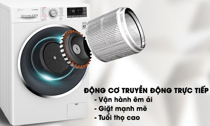 Máy giặt LG Inverter 8 Kg FM1208N6W vận hành êm ái
