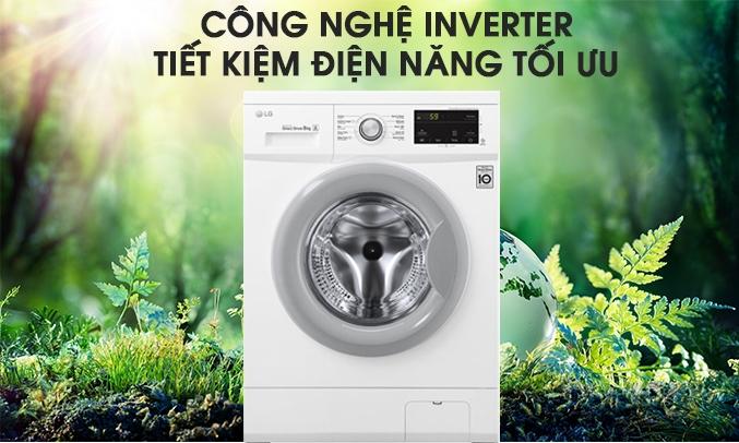 Máy giặt LG Inverter 8 Kg FM1208N6W tiết kiệm điện