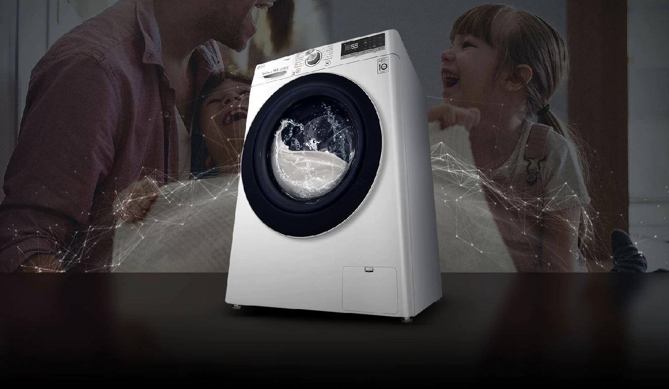 Máy giặt LG Inverter 9 Kg FV1409S2W - Thiết kế sang trọng, hiện đại, mang đến sự tiện nghi