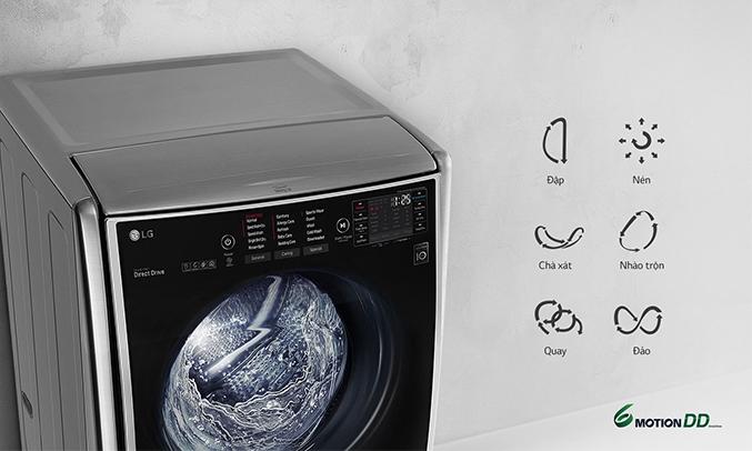Máy giặt LG Inverter 21 kg F2721HTTV 6 motions thông minh