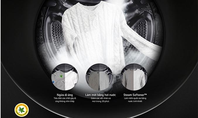Máy giặt LG Inverter 21 kg F2721HTTV kháng khuẩn, khử mùi hiệu quả