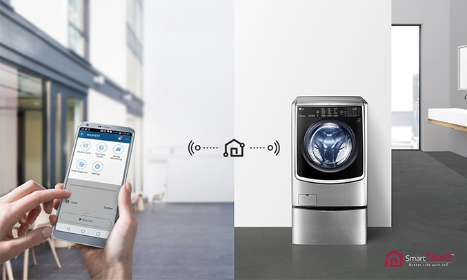 Máy giặt LG Inverter 21 kg F2721HTTV kết nối thông minh với SmartPhone