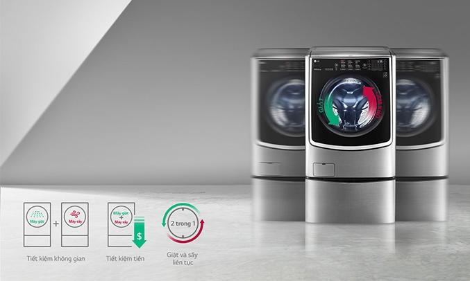Máy giặt LG Inverter 21 kg F2721HTTV kết hợp giặt sấy