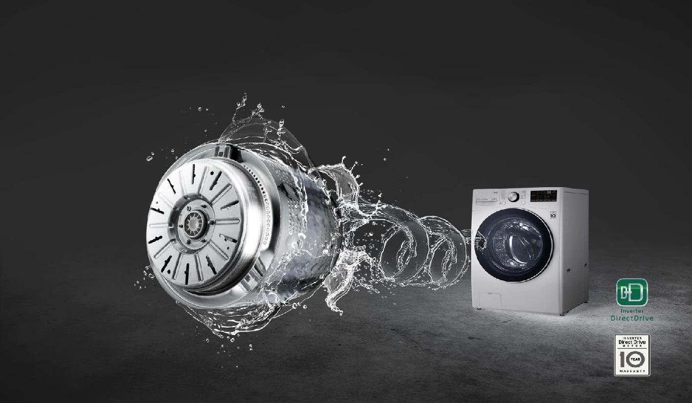 Máy giặt sấy LG Inverter 15 kg F2515RTGW - Công nghệ inverter