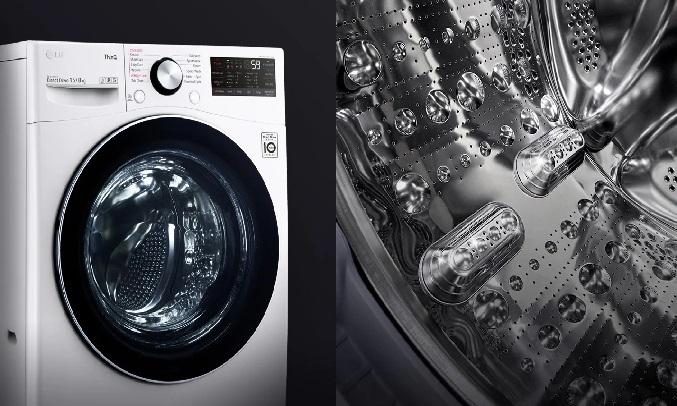 Máy giặt sấy LG Inverter 15 kg F2515RTGW - Cửa kính cường lực