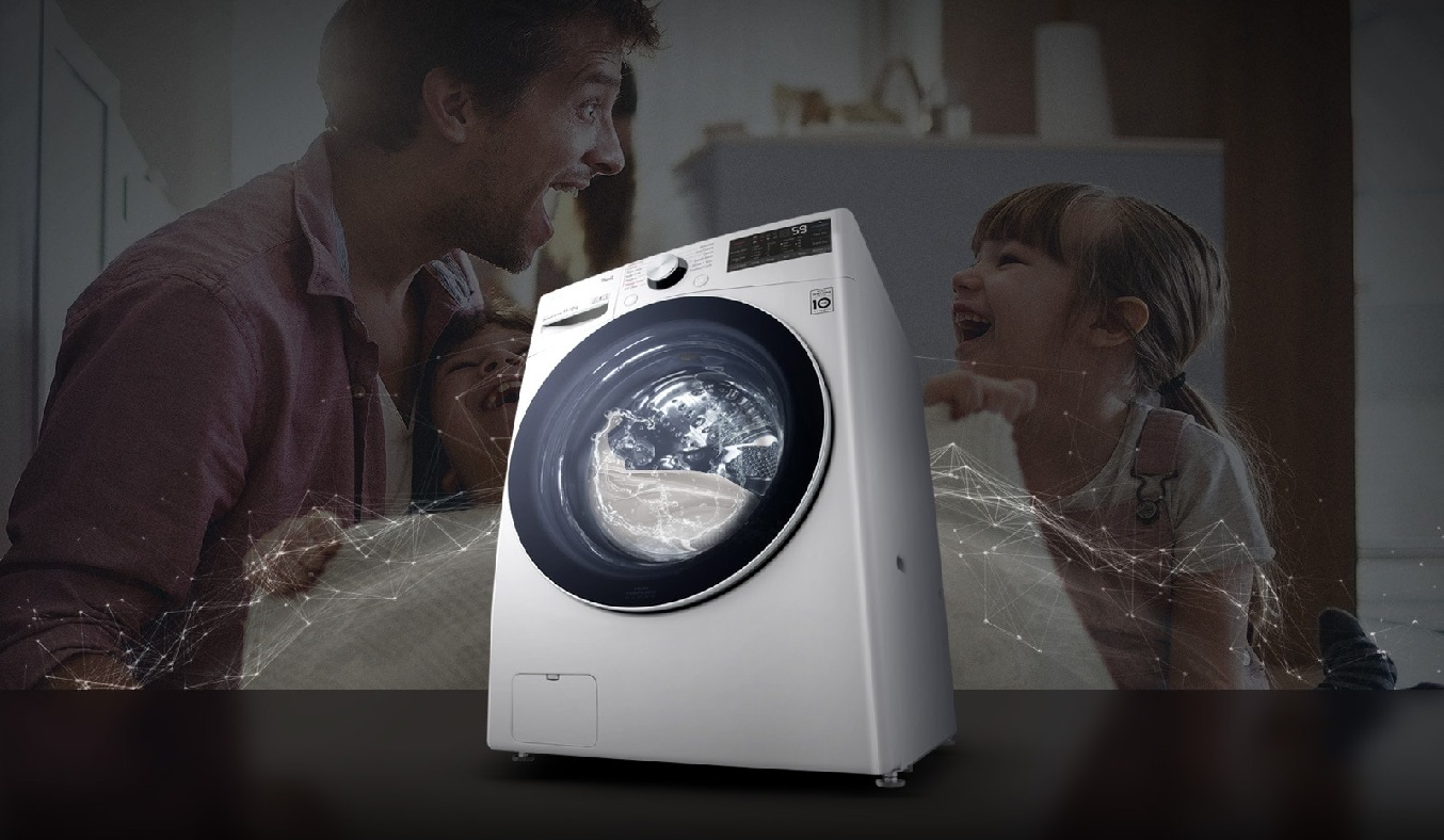 Máy giặt sấy LG Inverter 15 kg F2515RTGW - Thiết kế