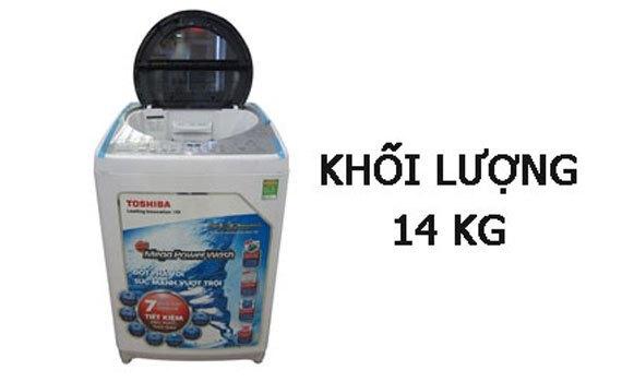 Máy giặt Toshiba AW-DC1500WV (WS) khối lượng giặt lớn lên đến 14 kg