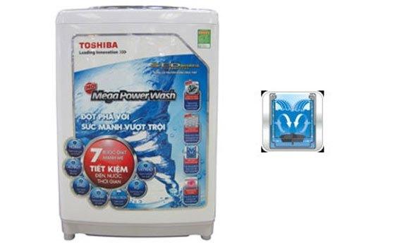 Máy giặt Toshiba AW-DC1500WV (WS) được trang bị hệ thống thác nước đôi